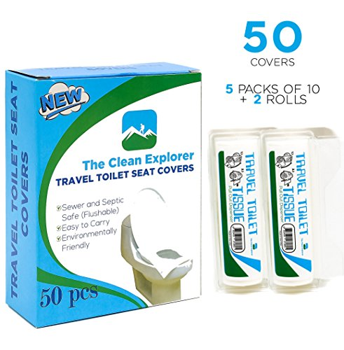 Disposable Toilet Seat Covers Travel Office Potty Training 50