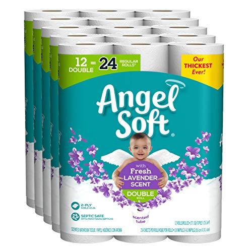 Angel Soft Toilet Paper, Lavender Scent, 6 Mega Rolls, 6 ...